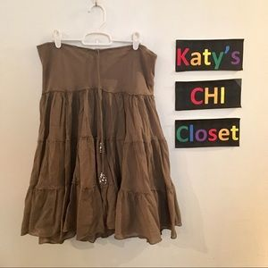 Express Olive Green Long Skirt S